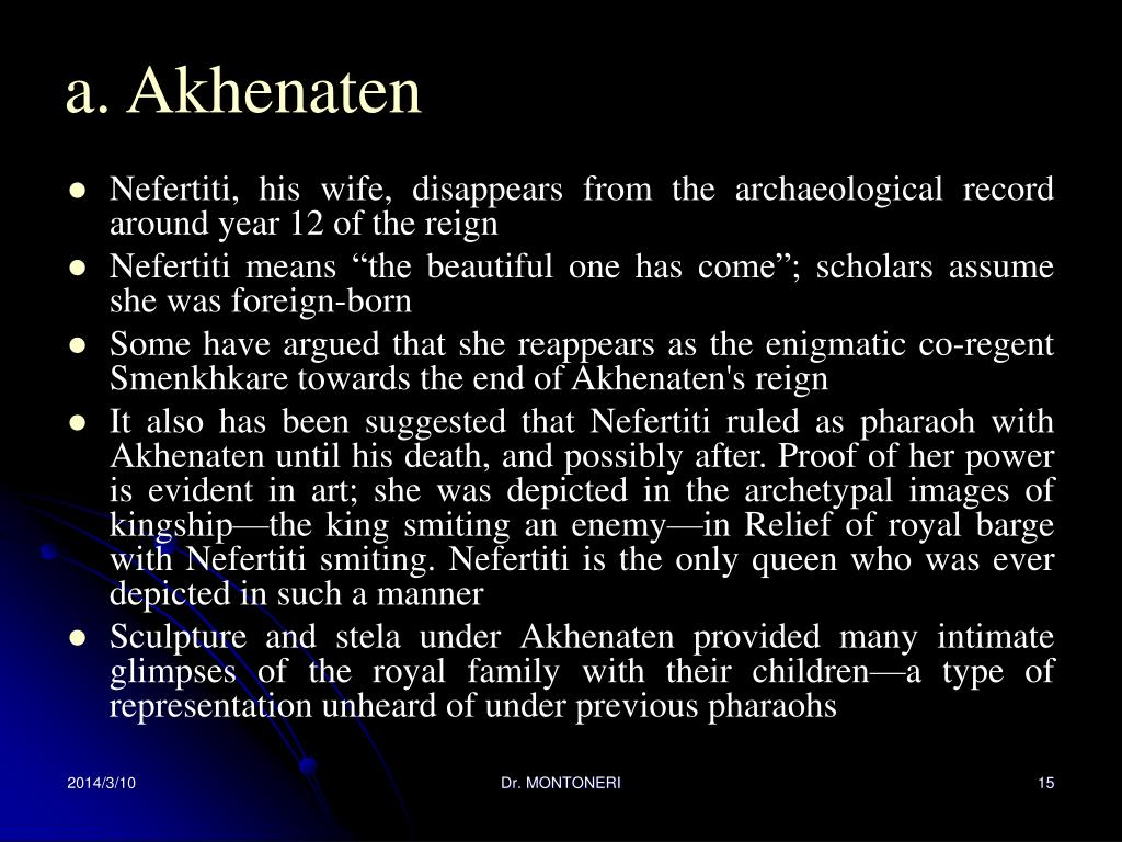 a. Akhenaten