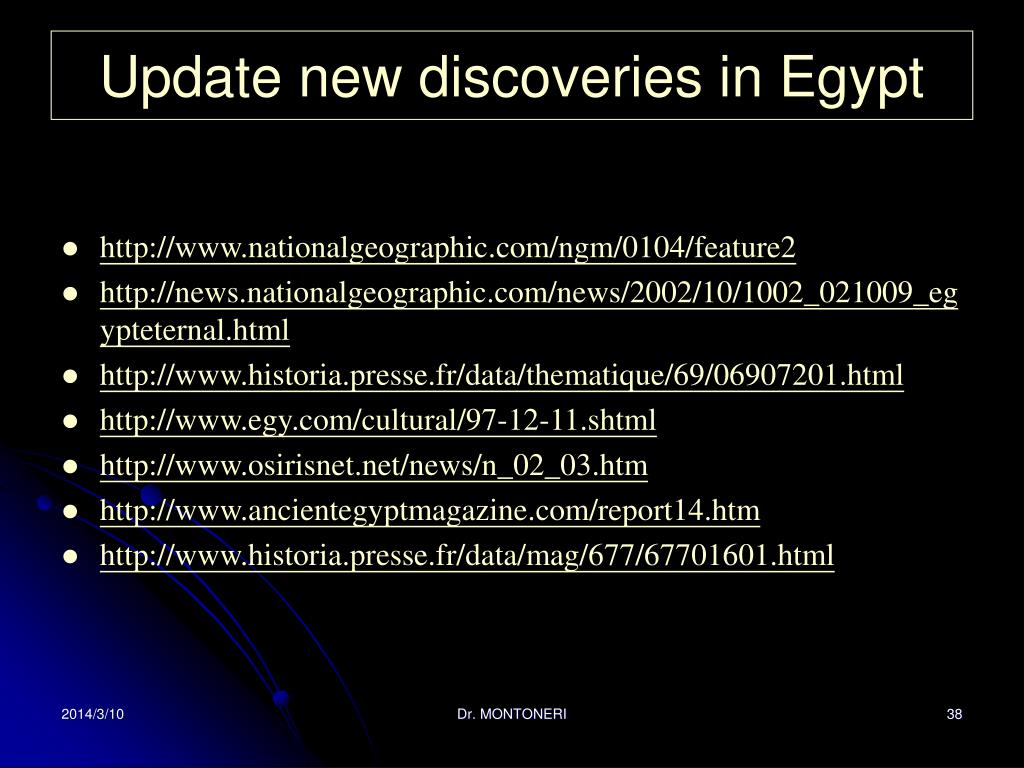 Update new discoveries in Egypt