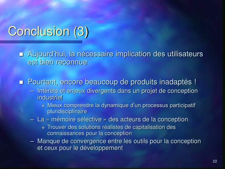 Conclusion (3)