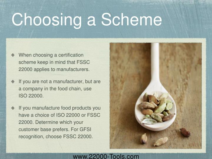 Choosing a Scheme