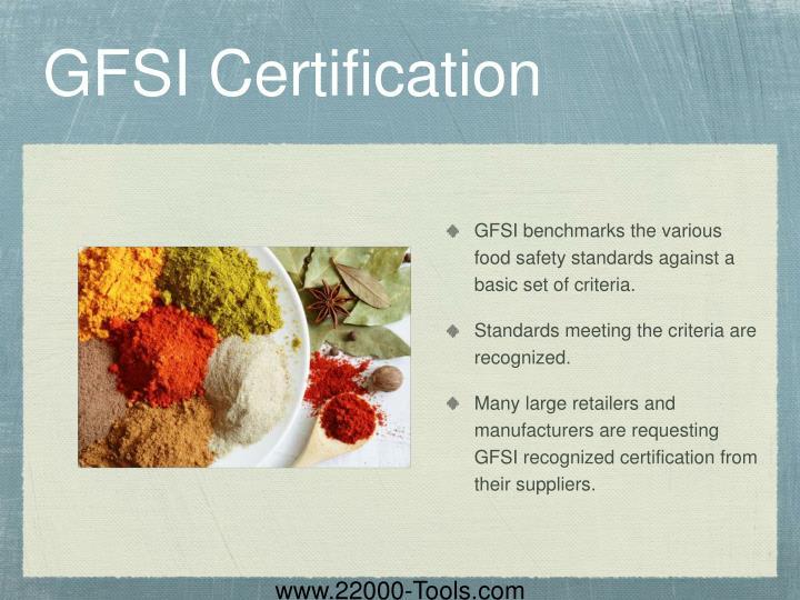 GFSI Certification