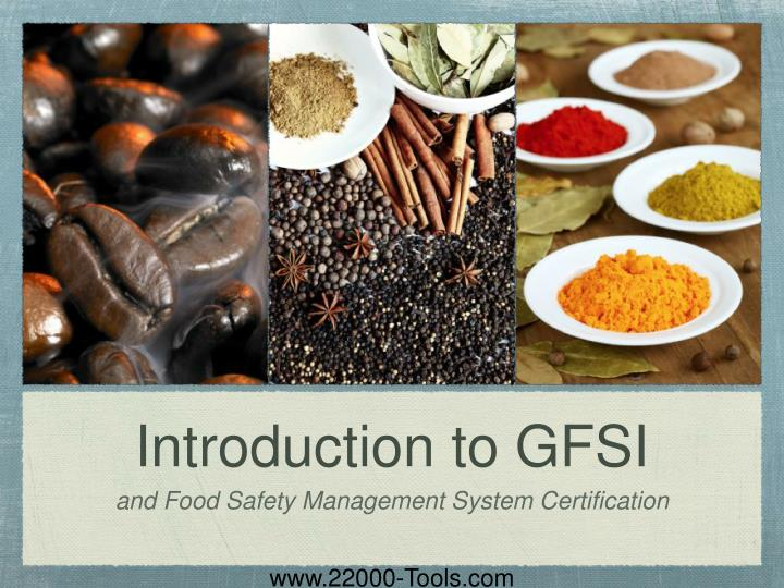 Introduction to gfsi
