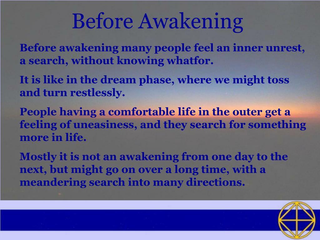 Before Awakening