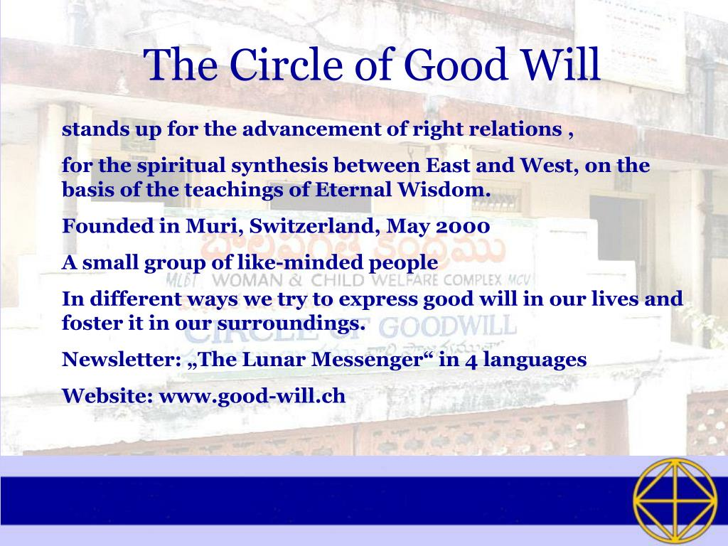The Circle of Good Will
