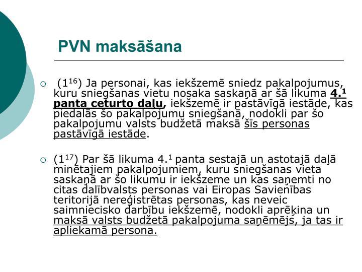 PVN maksāšana