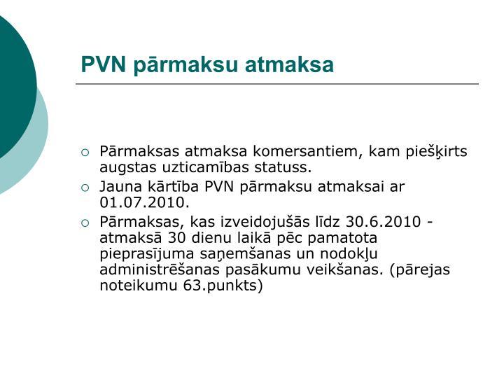 PVN pārmaksu atmaksa
