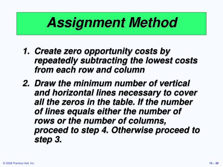 Assignment Method