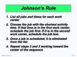 johnson s rule