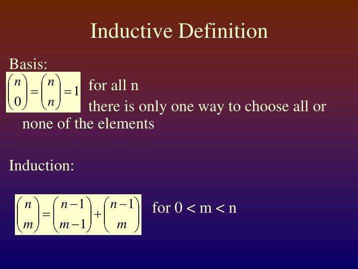 Inductive Definition