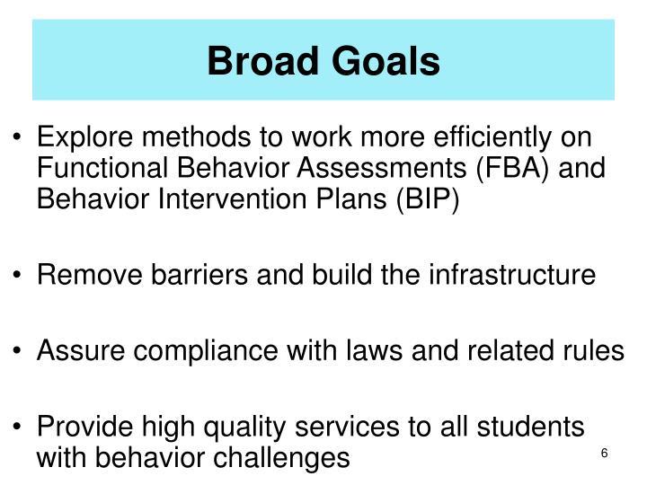 Broad Goals