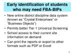 early identification of students who may need fba bips