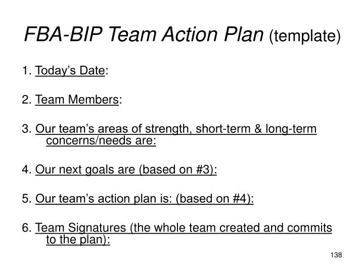 FBA-BIP Team Action Plan