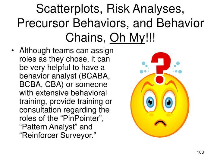 Scatterplots, Risk Analyses,