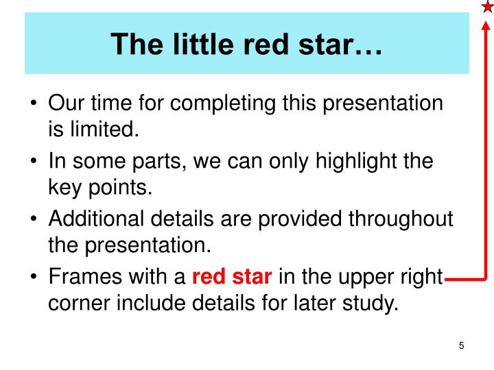 The little red star…