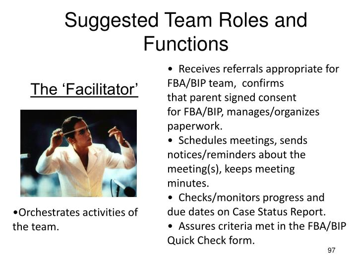 Suggested Team Roles and Functions