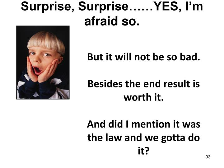 Surprise, Surprise……YES, I'm afraid so.