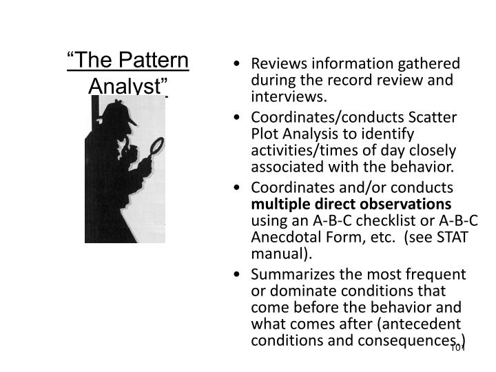 """The Pattern Analyst"""