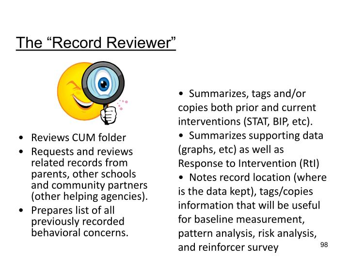 "The ""Record Reviewer"""