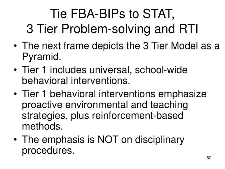 Tie FBA-BIPs to STAT,