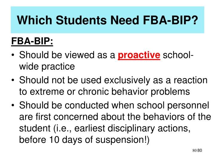 Which Students Need FBA-BIP?