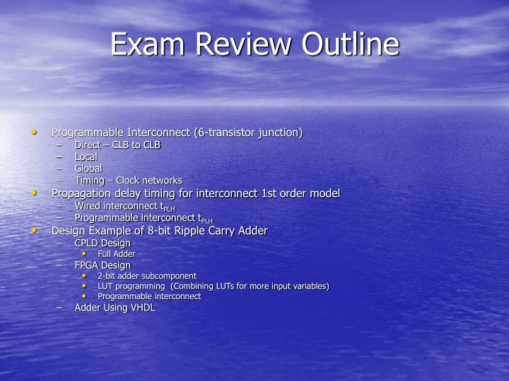 Exam Review Outline