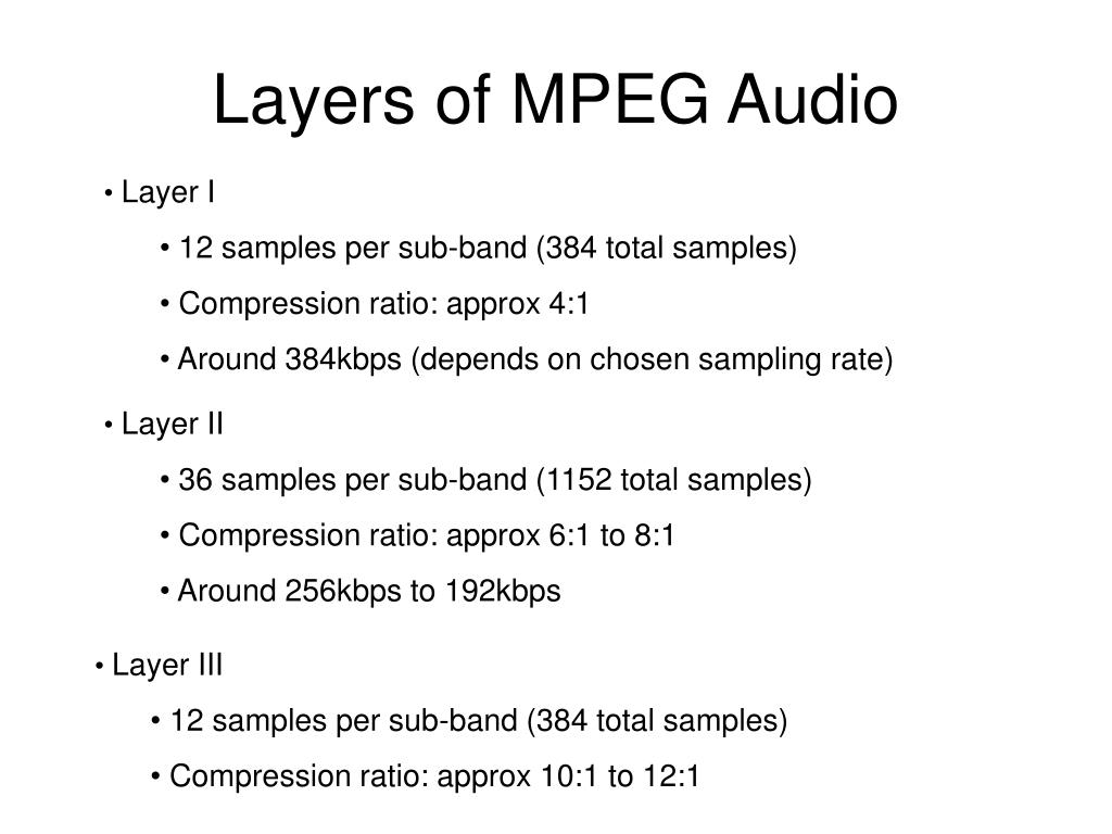 Layers of MPEG Audio