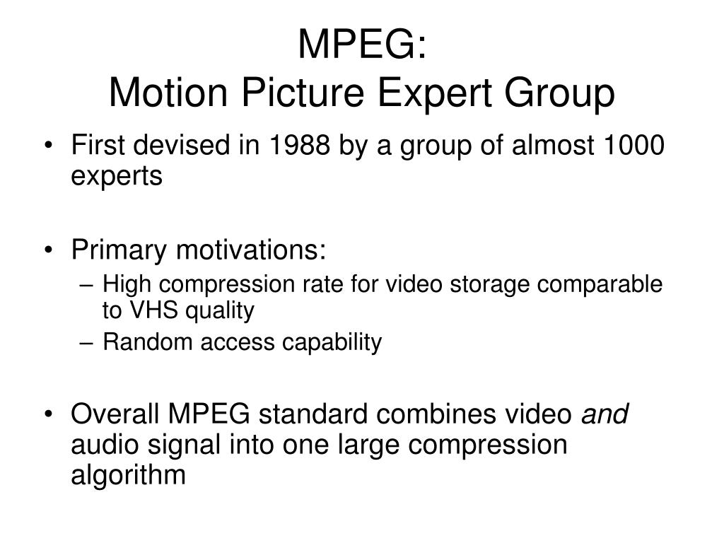MPEG: