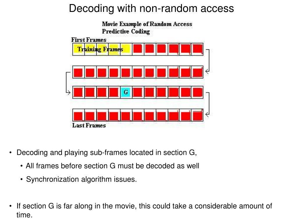 Decoding with non-random access