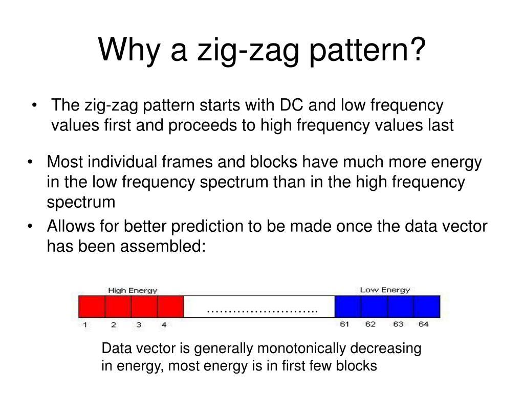 Why a zig-zag pattern?