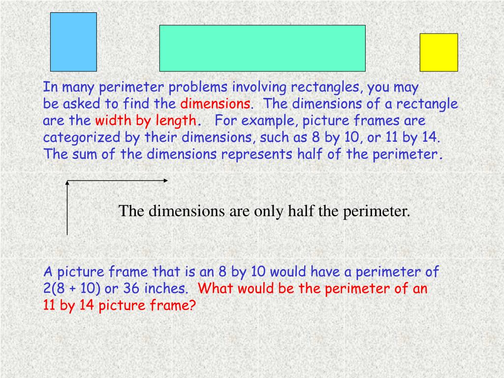 In many perimeter problems involving rectangles, you may