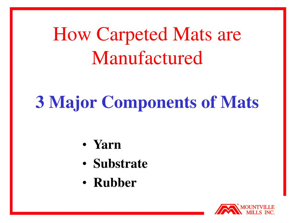 How Carpeted Mats are Manufactured