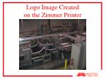 logo image created on the zimmer printer