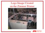 logo image created on the zimmer printer20