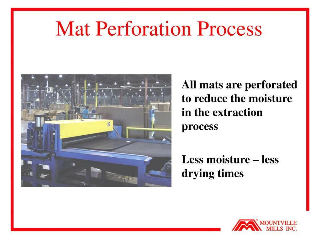 Mat Perforation Process