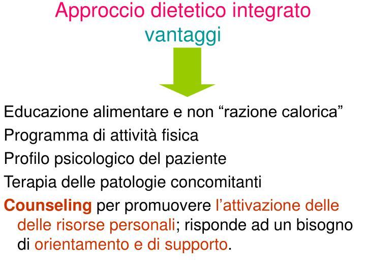 Approccio dietetico integrato