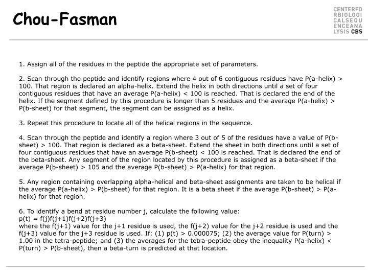 Chou-Fasman