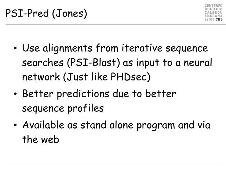 PSI-Pred (Jones)