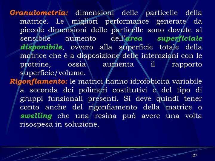 Granulometria: