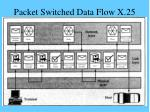 packet switched data flow x 25