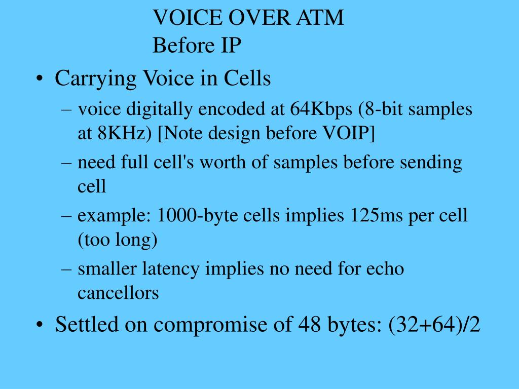 VOICE OVER ATM Before IP