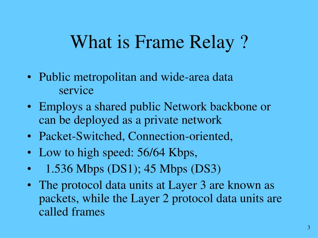 What is Frame Relay ?