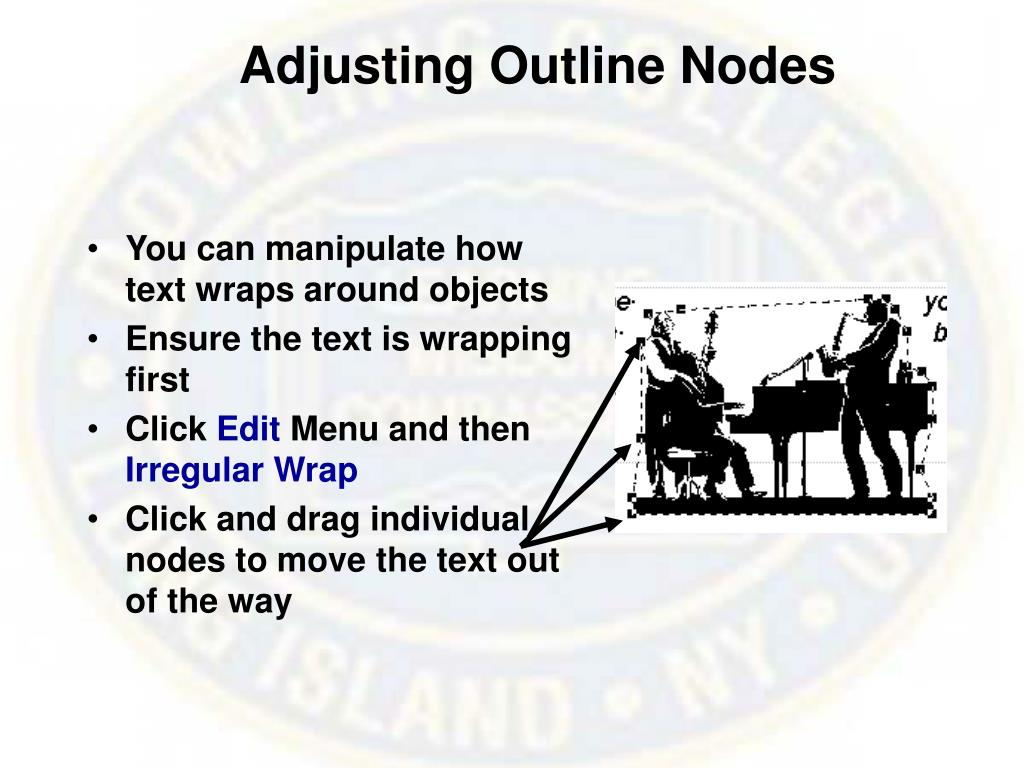 Adjusting Outline Nodes