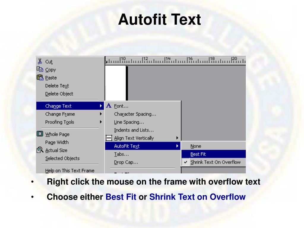 Autofit Text