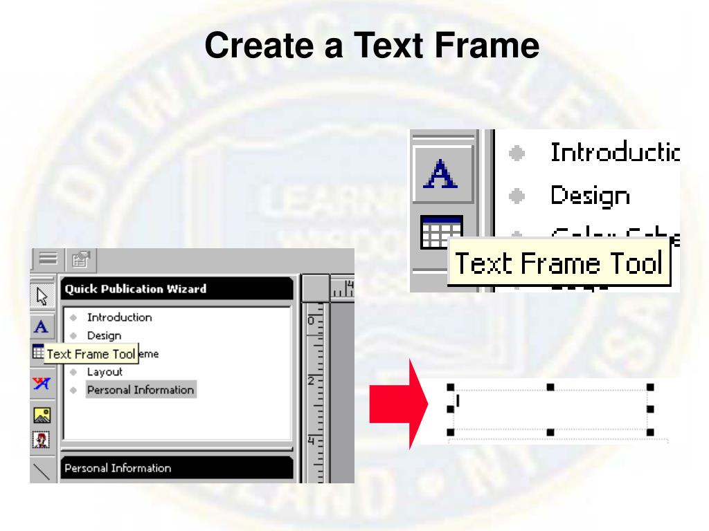 Create a Text Frame