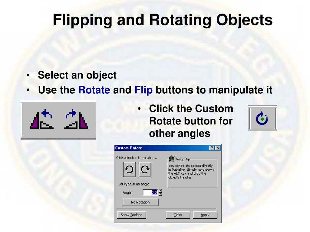 Flipping and Rotating Objects