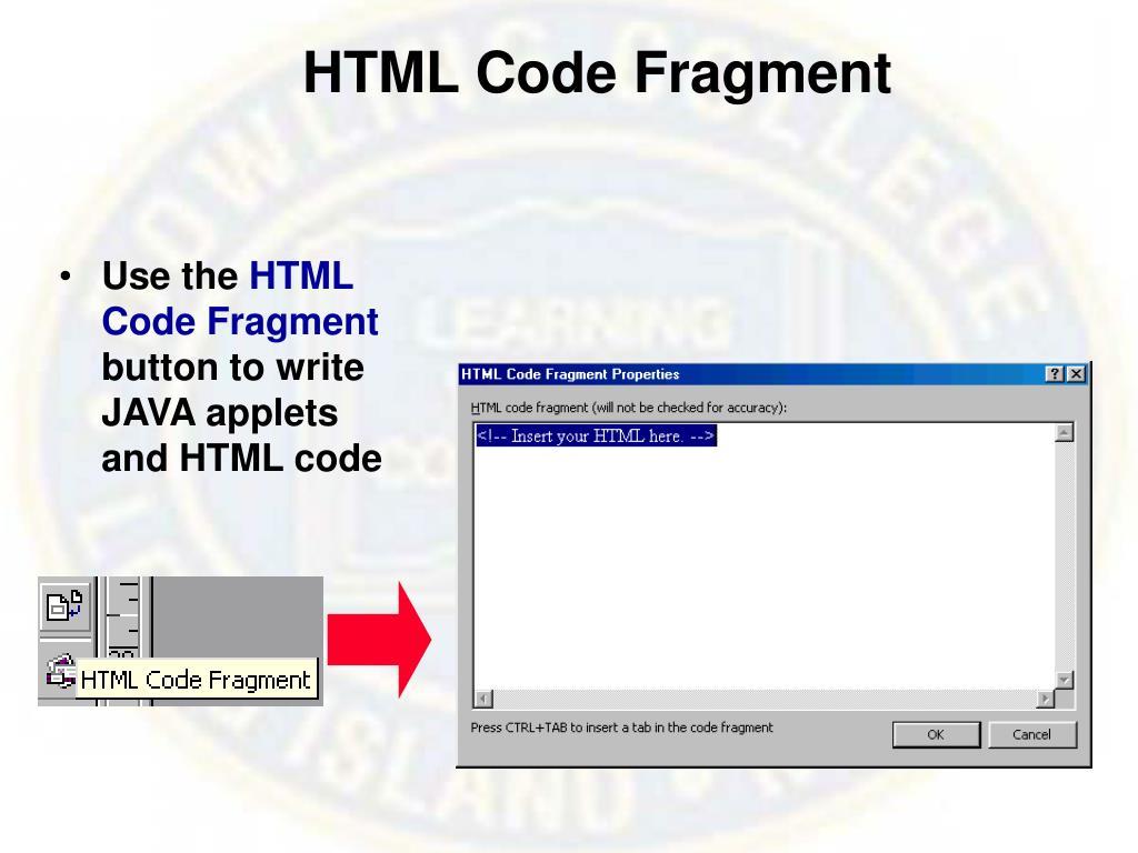 HTML Code Fragment
