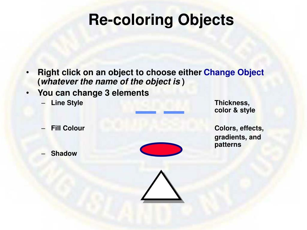 Re-coloring Objects