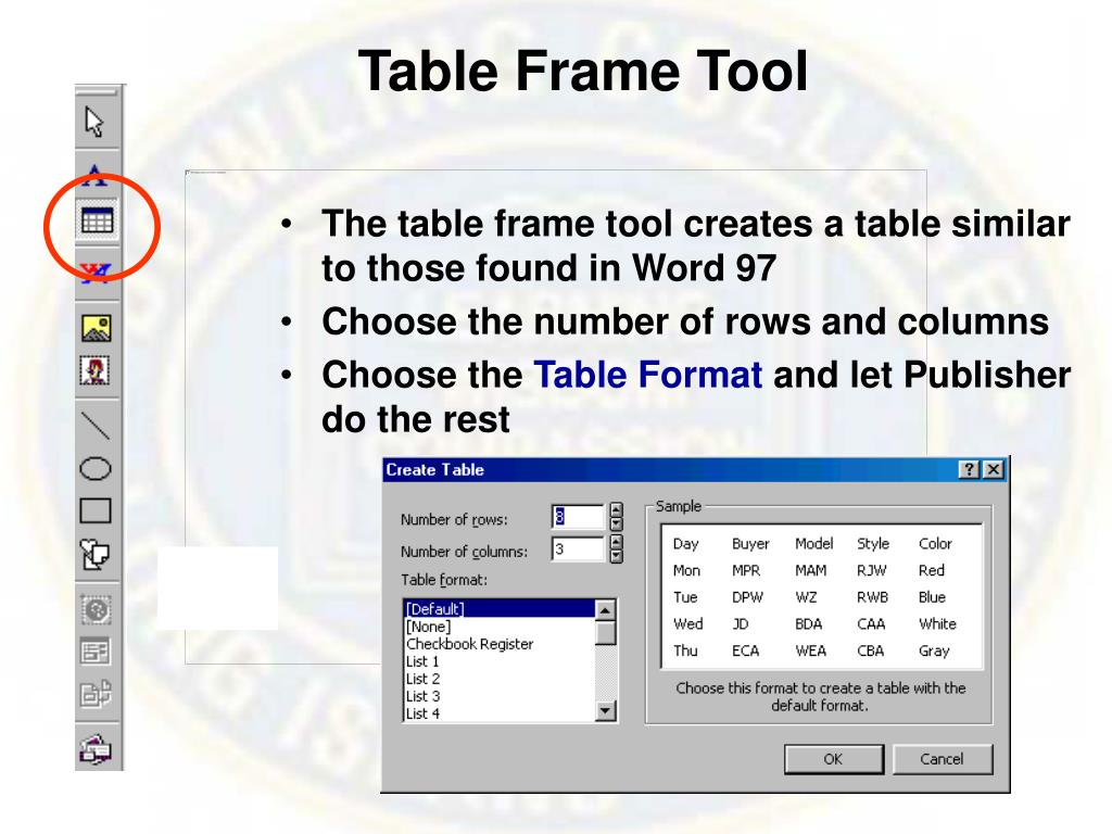 Table Frame Tool