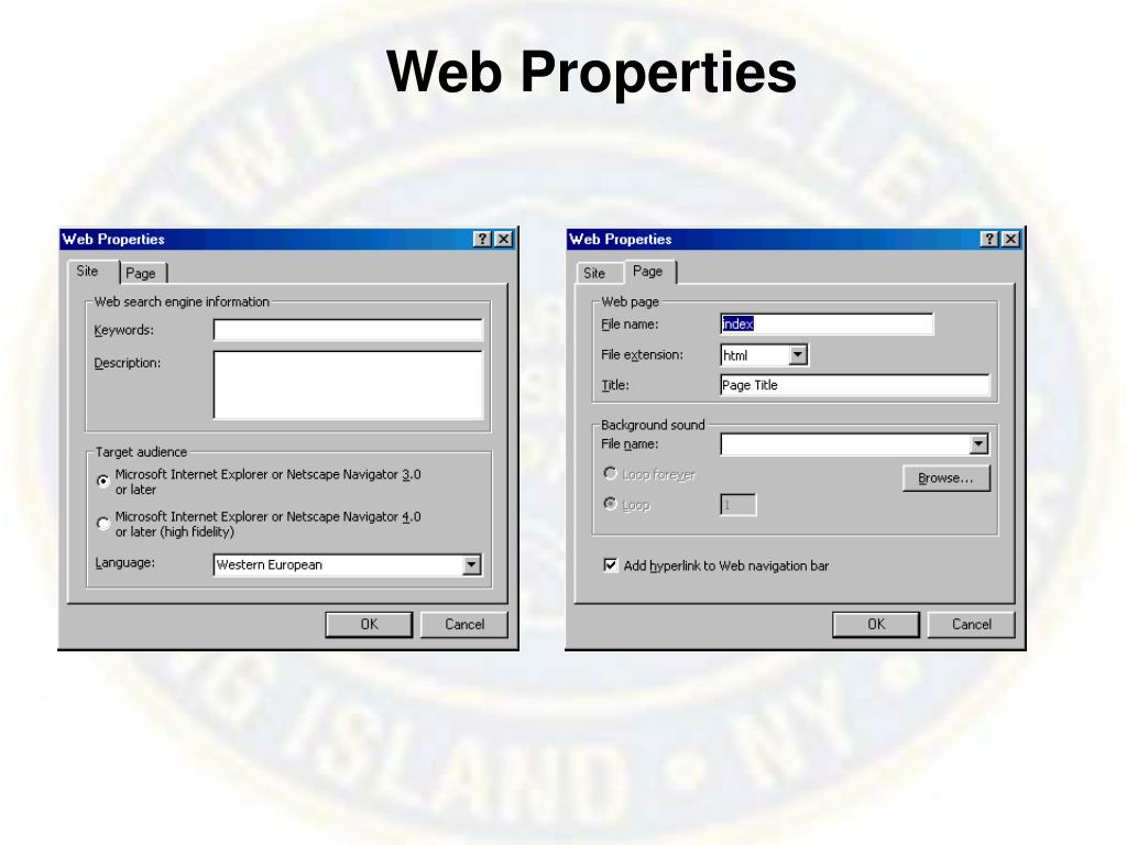 Web Properties