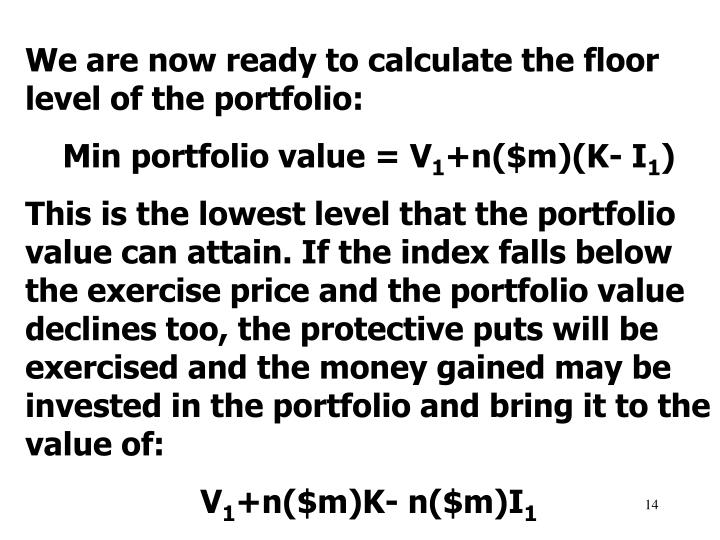 We are now ready to calculate the floor level of the portfolio: